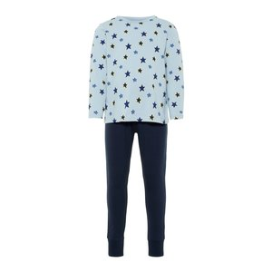 NAME IT jongens pyjama set blue fog aop glow noos