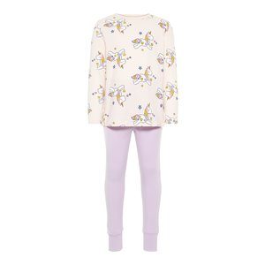 NAME IT meisjes pyjama set barely pink unicorn aop noos