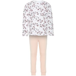 NAME IT meisjes pyjama set bright white flowers noos