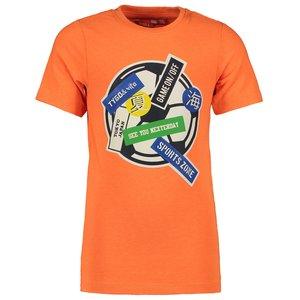 TYGO & VITO jongens t-shirt shocking orange football