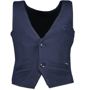 LE CHIC jongens gilet sweat garçon blue navy