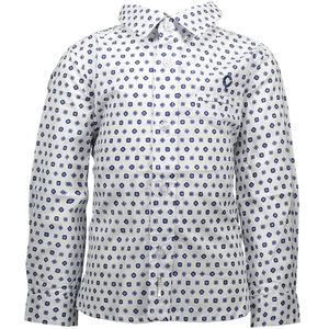 LE CHIC jongens overhemd graphic small flowers white