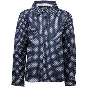 LE CHIC jongens overhemd fancy squares blue navy
