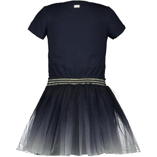 LE CHIC LE CHIC meisjes jurk dip-dye blue navy