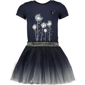 LE CHIC meisjes jurk dip-dye blue navy