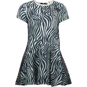 LE CHIC meisjes jurk zebra chic shade of jade