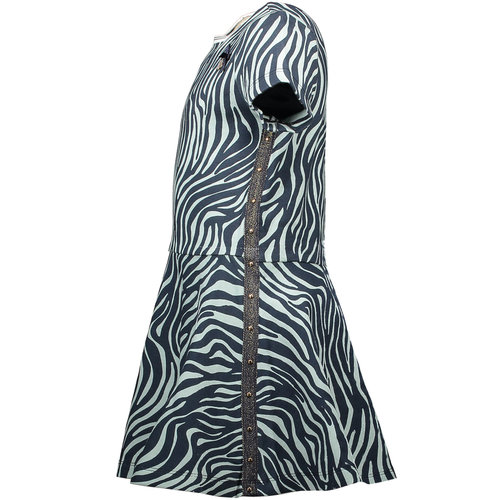 LE CHIC LE CHIC meisjes jurk zebra chic shade of jade