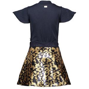 LE CHIC LE CHIC meisjes jurk spotty sequins blue navy