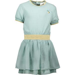 LE CHIC meisjes jurk fancy voile shade of jade