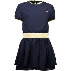 LE CHIC meisjes jurk fancy voile blue navy