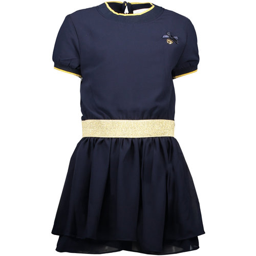 LE CHIC LE CHIC meisjes jurk fancy voile blue navy