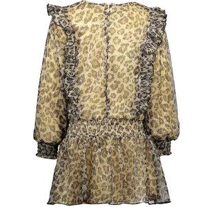 LE CHIC LE CHIC meisjes jurk leopard pleated glitter fields of gold