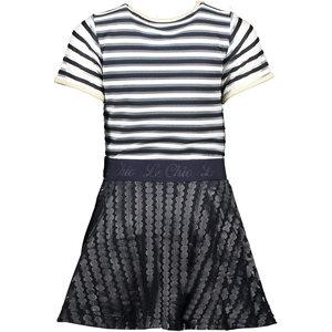 LE CHIC LE CHIC meisjes jurk leather rok blue navy