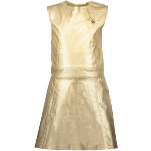 LE CHIC meisjes jurk precious metal look fields of gold