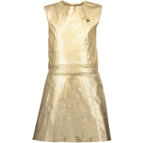 LE CHIC LE CHIC meisjes jurk precious metal look fields of gold