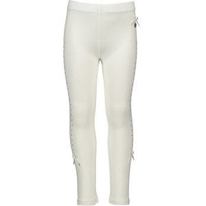 LE CHIC meisjes legging rhinestone at sides off white