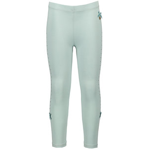 LE CHIC meisjes legging rhinestone at sides shade of jade