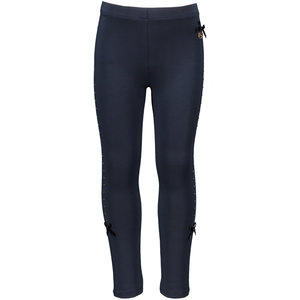 LE CHIC meisjes legging rhinestone at sides blue navy