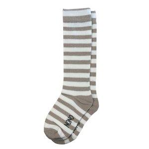 Nono meisjes lange sokken light gold sporty
