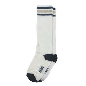 Nono meisjes sokken optical white splash