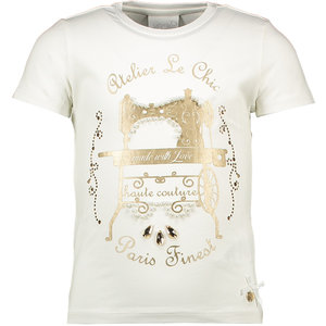 LE CHIC meisjes t-shirt off white atelier le chic
