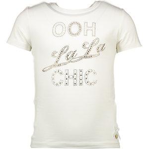 LE CHIC meisjes t-shirt off white  oo la la chic