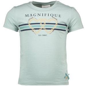 LE CHIC meisjes t-shirt magnifique le chic shade of jade