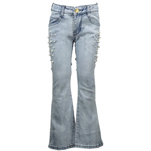 LE CHIC meisjes jeans flaired light washed classic light denim