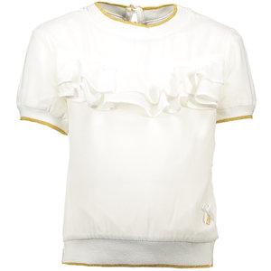 LE CHIC meisjes t-shirt fancy voile off white