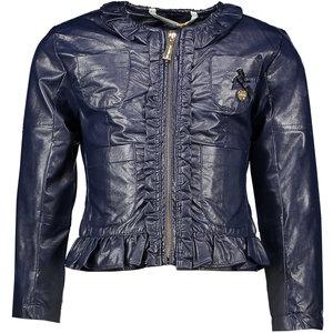 LE CHIC meisjes soft fake leather jas blue navy
