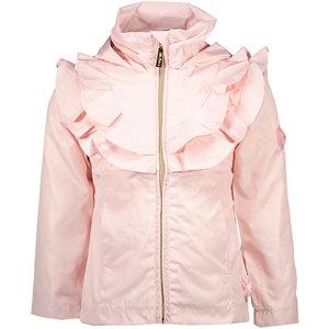 LE CHIC meisjes jas ruffle yoke plain pretty in pink