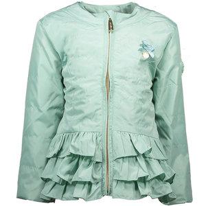 LE CHIC meisjes jas plain silk shade of jade