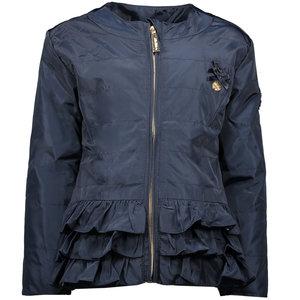 LE CHIC meisjes jas plain silk blue navy
