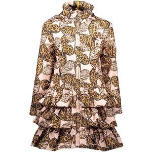 LE CHIC meisjes ruffle jas butterflies pretty in pink
