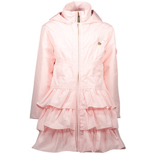 LE CHIC meisjes ruffle jas plain pretty in pink