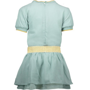 LE CHIC LE CHIC meisjes jurk 2 layered fancy voile shade of jade