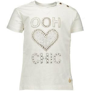"LE CHIC meisjes t-shirt ""ooh heart chic"" off white"