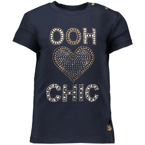 "LE CHIC meisjes t-shirt ""ooh heart chic"" blue navy"