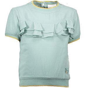 LE CHIC meisjes blouse ruffles fancy voile shade of jade