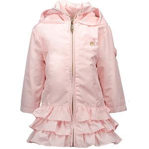LE CHIC meisjes ruffle jas plain pretty in pink