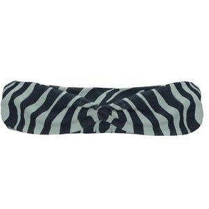 LE CHIC meisjes hoofdband zebra chic shade of jade