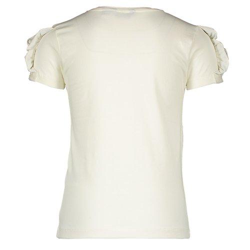 MOODSTREET MOODSTREET meisjes t-shirt shoulder frills warm white