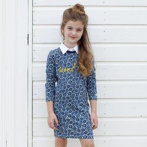 MOODSTREET meisjes jurk navy happy