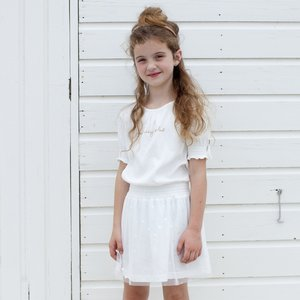MOODSTREET MOODSTREET meisjes jurk warm white