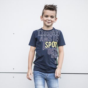 TYGO & VITO jongens t-shirt navy sport