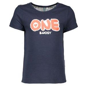 B.NOSY meisjes t-shirt multi stripe glitter