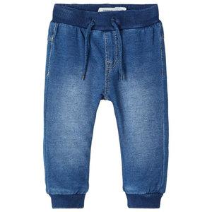 NAME IT jongens joggingbroek medium blue denim nos