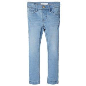 NAME IT meisjes skinny fit all over jeans  broek light blue denim