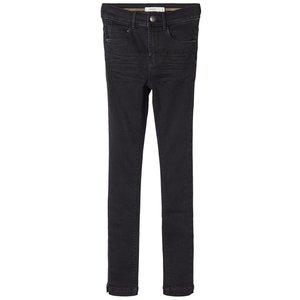 NAME IT meisjes skinny fit all over jeans broek black denim