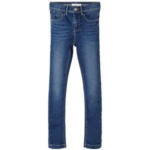 NAME IT meisjes skinny fit all over jeans broek medium blue denim